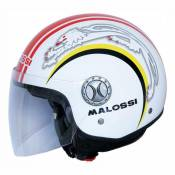 Casque Jet Malossi blanc brillant- XL
