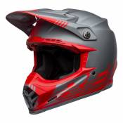 Casque cross Bell Moto-9 Flex Louver Mat gris/rouge- M