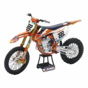 Moto miniature New Ray KTM 450 SXF Factory Cairoli 222 1/10°