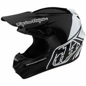 Casque cross TroyLee design GP POLYACRYLITE BLOCK BLACK/WHITE 2020