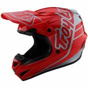 Casque cross TroyLee design GP - SILHOUETTE - RED SILVER 2020