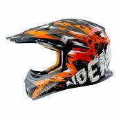 Casque Cross enfant Noend Cracked orange - YL