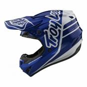 Casque cross Troy Lee Designs GP Silhouette navy/blanc- L