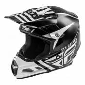 Casque cross Fly Racing F2 Carbon Mips granite blanc/noir/gris - XS
