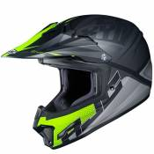 Casque cross Hjc CL XY II - ELLUSION - BLACK YELLOW MATT