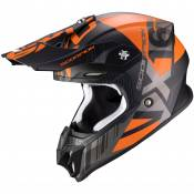 Casque cross Scorpion Exo VX-16 AIR - MACH - MATT BLACK ORANGE 2021