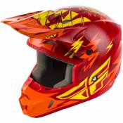 Casque cross enfant Fly Racing Kinetic Shocked rouge/jaune - YL