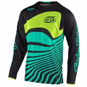 Maillot cross TroyLee design GP AIR - DRIFT - BLACK TURQUOISE 2020