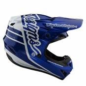 Casque cross TroyLee design SE4 POLYACRYLITE YOUTH - SILHOUETTE - BLUE WHITE 2020