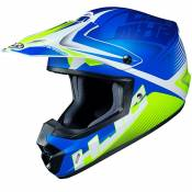 Casque cross Hjc CS MX II - ELLUSION - BLUE GREEN MATT 2020