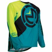 Maillot cross enfant Moose Racing Qualifier teal/jaune fluo - XL