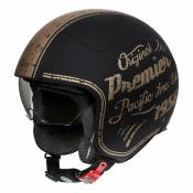 Casque demi jet Premier Rocker OR19 BM noir/bronze - M