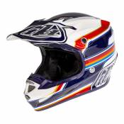 Casque cross Troy Lee Designs SE4 Composite Speed blanc/rouge- L