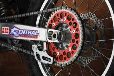 Couronne Renthal Twinring 48 dents rouge pour Honda CRF 450 R 04-16