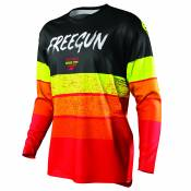 Maillot cross Shot by Freegun DEVO STRIPE - RED NEON YELLOW 2021