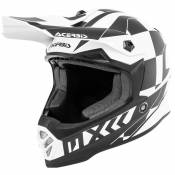 Casque cross Acerbis STEEL WHITE BLACK ENFANT