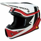 Casque cross Moose Racing F.I SESSION ROUGE/BLANC 2019