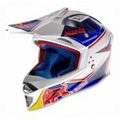 Casque cross Kini Red Bull Competition bleu marine/blanc- M (58cm)