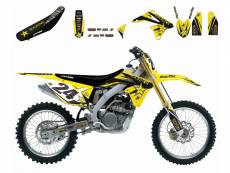 Kit déco + Housse de selle Blackbird Rockstar Energy Suzuki 250 RM-Z 1