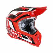 Casque cross Progrip 3180 rouge / blanc - XS
