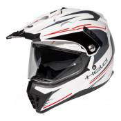 Casque intégral Held ALCATAR blanc/rouge- XS