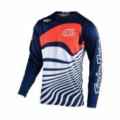 Maillot cross Troy Lee Designs GP Drift navy/orange- YS