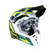 Casque cross Progrip 3180 bleu / jaune - XL