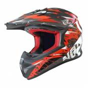 Casque Cross Noend Cracked rouge - XS