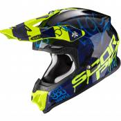 Casque cross Scorpion Exo VX-16 AIR - ORATIO - BLACK BLUE NEON YELLOW 2021