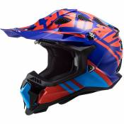 Casque cross LS2 MX700 - SUBVERTER EVO - GAMMAX RED BLUE 2021