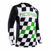 Maillot cross Acerbis LTD MX Start & Finish noir/vert - M