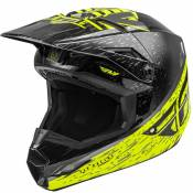 Casque cross Fly KINETIC K120 HI-VIS GREY BLACK 2020