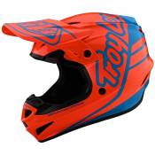 Casque cross TroyLee design GP POLYACRYLITE - SILHOUETTE - ORANGE CYAN 2020