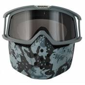 Kit mask + google camo grey Shark