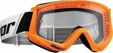 Masque cross Thor Combat orange fluo/noir