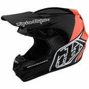 Casque cross TroyLee design GP - BLOCK - BLACK ORANGE 2020