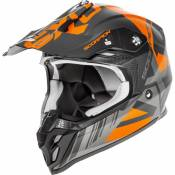 Casque cross Scorpion VX-16 Air Mach noir/orange mat- L