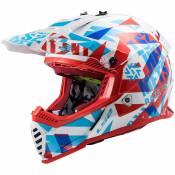Casque cross LS2 MX437 - FAST EVO - FUNKY - RED WHITE 2021