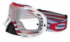 Masque cross Oakley Crowbar Nemesis RWB rouge/bleu