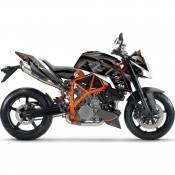Kit déco Up Maximize noir / orange KTM Super Duke 990 10-14