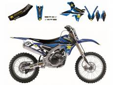 Kit déco + Housse de selle Blackbird Rockstar Energy Yamaha 250 YZ 02-