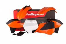 Kit plastique Polisport KTM 85 SX 13-14 (orange/noir/blanc origine 13-