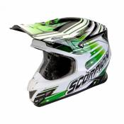 Casque cross Scorpion VX-20 AIR STAR TROOPER Noir Blanc Vert- M