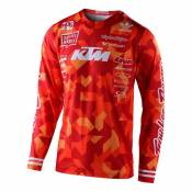Maillot cross Troy Lee Designs GP Air Confetti Team orange- S