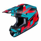 Casque cross Hjc CS MX II - MADAX - BLUE RED 2020