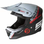 Casque cross Shot FURIOUS STORM - BLACK GREY RED MATT 2021