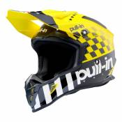 Casque cross Pull-in Master jaune- S