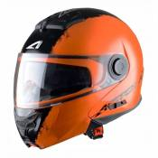 Casque Modulable Astone Rt800 Graphic Exclusive Stripes orange mat- XS