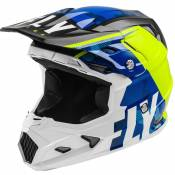 Casque cross Fly TOXIN TRANSFER MIPS - BLUE HI-VIS WHITE 2021