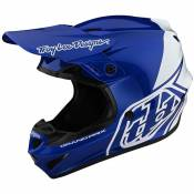 Casque cross TroyLee design GP - BLOCK - BLUE WHITE 2020